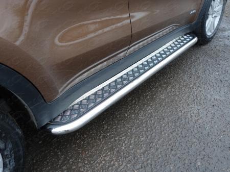 Kia Sportage 2016- Пороги с площадкой 60,3 мм